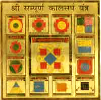 Kaal Sarp Dosha Gold Plated Yantra Image